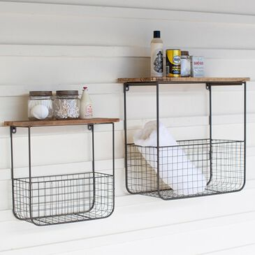Kalalou Wire Basket Shelves (Set of 2), , large
