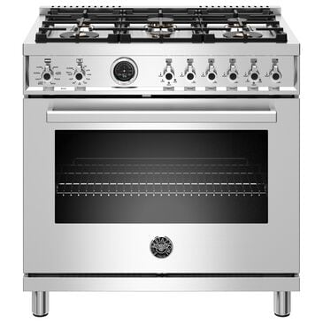 """Bertazzoni Professional 36"""" Dual Fuel Range with Liquid Propane in Stainless Steel, , large"""