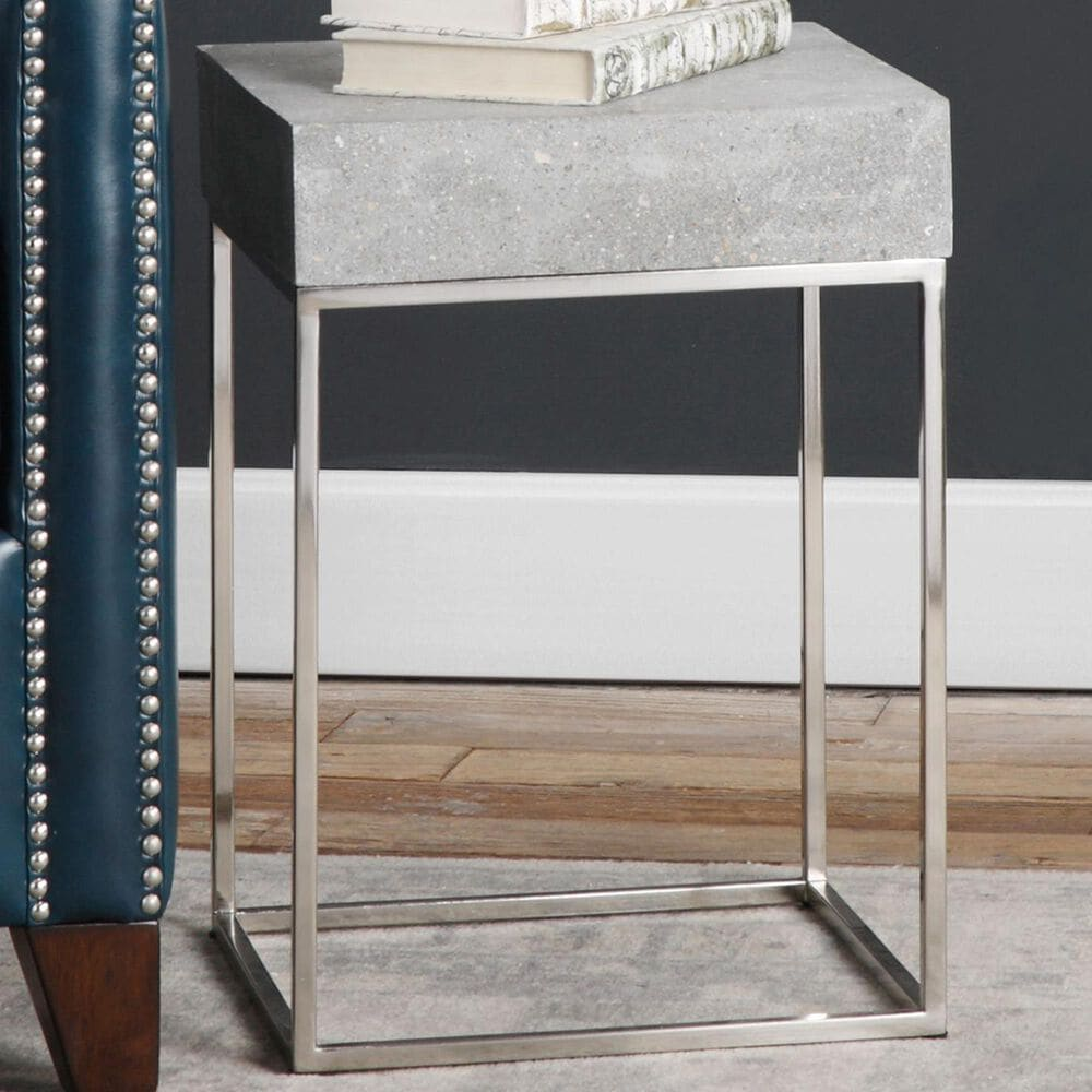 Uttermost Jude Accent Table in Grey, , large
