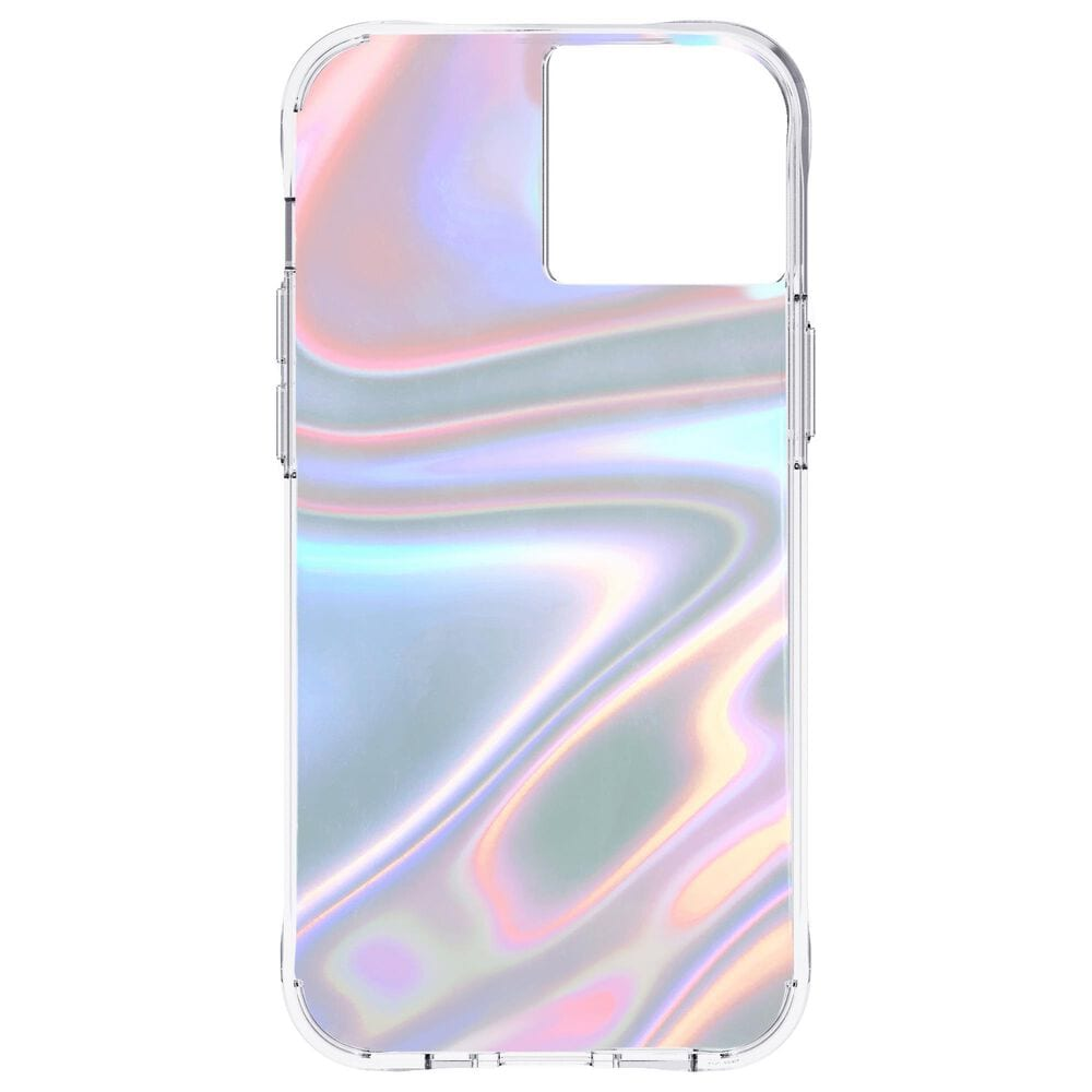 Case-Mate Iridescent Case with MicroPel for Apple iPhone 13 in Soap Bubble, , large