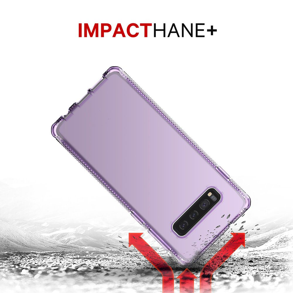 ITSkins Spectrum Clear Case For Samsung Galaxy S10 in Light Purple, , large