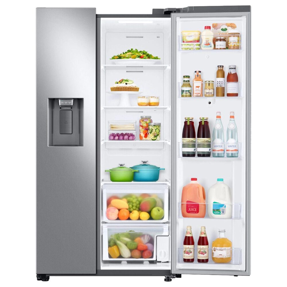 Samsung 4-Piece Kitchen Package with 26.7 Cu. Ft. Side-by-Side Refrigerator and Gas Range in Stainless Steel, , large