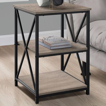 Monarch Specialties Accent Table in Dark Taupe, , large