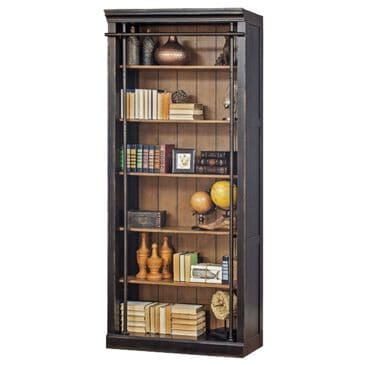 Wycliff Bay Toulouse Bookcase in Aged Ebony and Warm Honey, , large