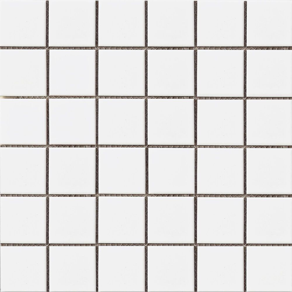 "Emser Impact White 2"" x 2"" Square on 12"" x 12"" Porcelain Mosaic Sheet, , large"