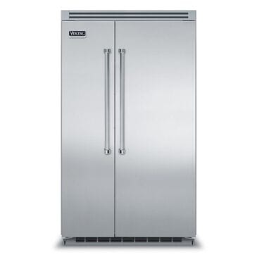 """Viking Range 48"""" Professional Side by Side Refrigerator Stainless Steel, , large"""