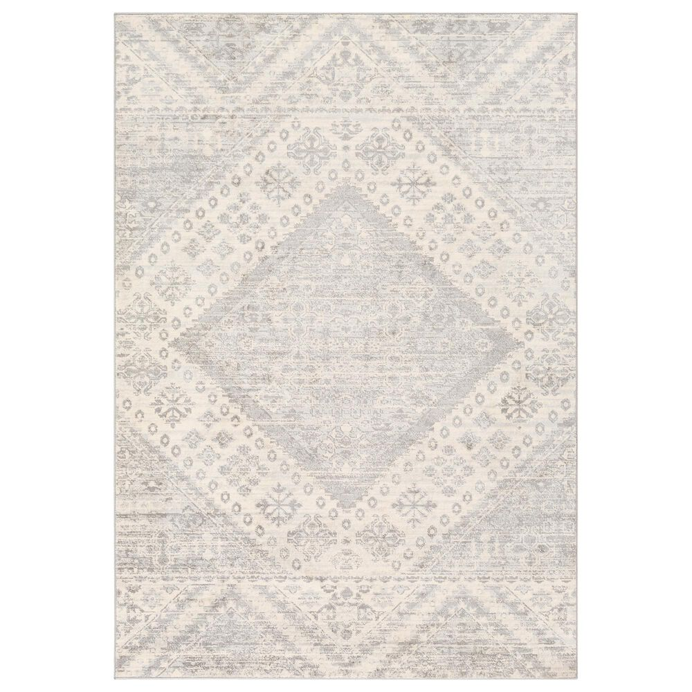 Surya Monaco MOC-2326 2' x 3' Silver Gray and Cream Scatter Rug, , large