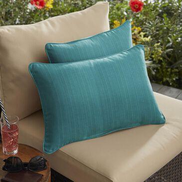 "Sorra Home Sunbrella 13"" x 20"" Pillow in Dupione Deep Sea (Set of 2), , large"