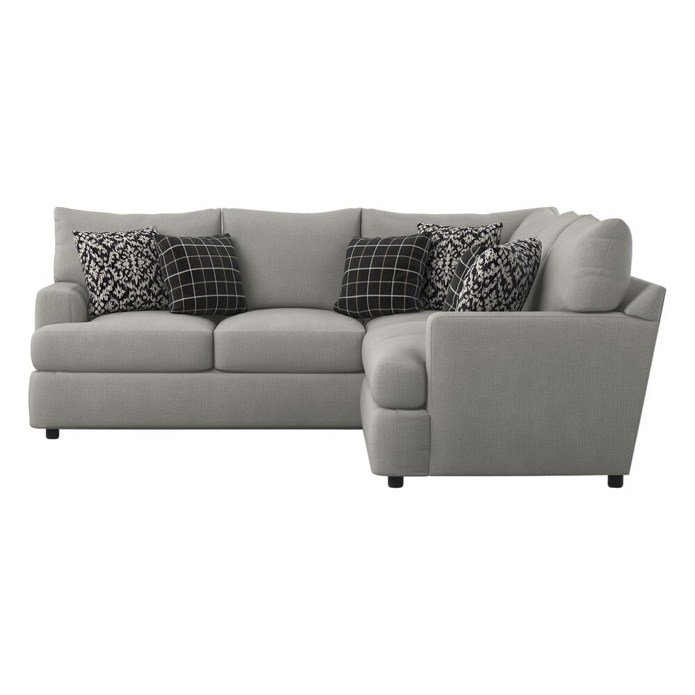 Klaussner Oliver 2-Piece Sectional in Less Greystone, , large
