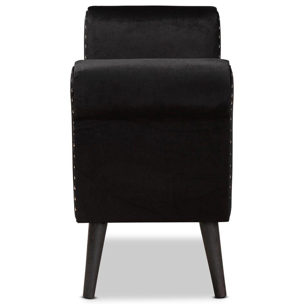 Baxton Studio Hanayo Storage Bench in Black, , large