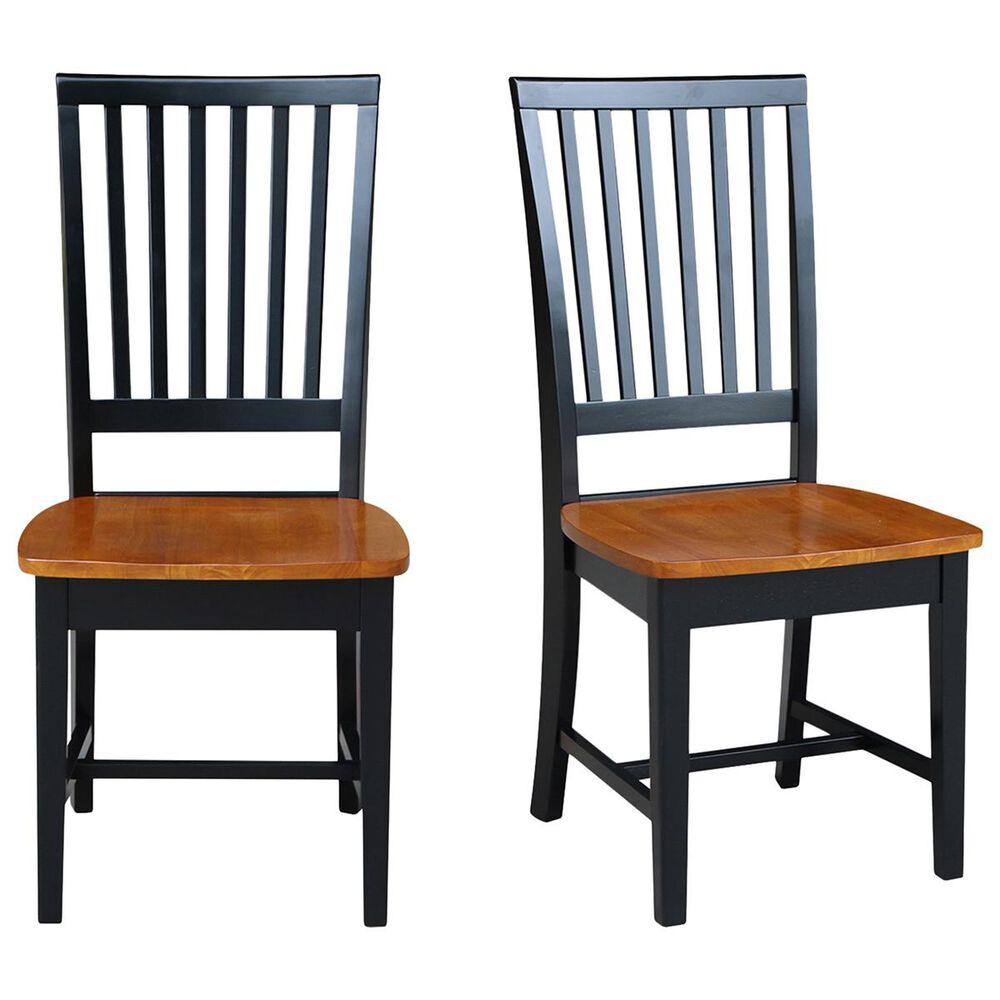 International Concepts Mission Side Chair in Black and Cherry (Set of 2), , large