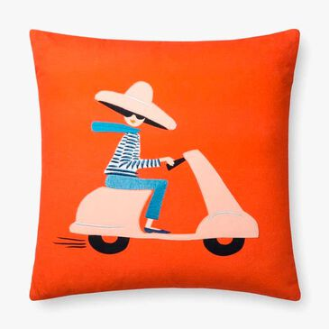 Rifle Paper Co. Lady on Moped Red Pillow, , large