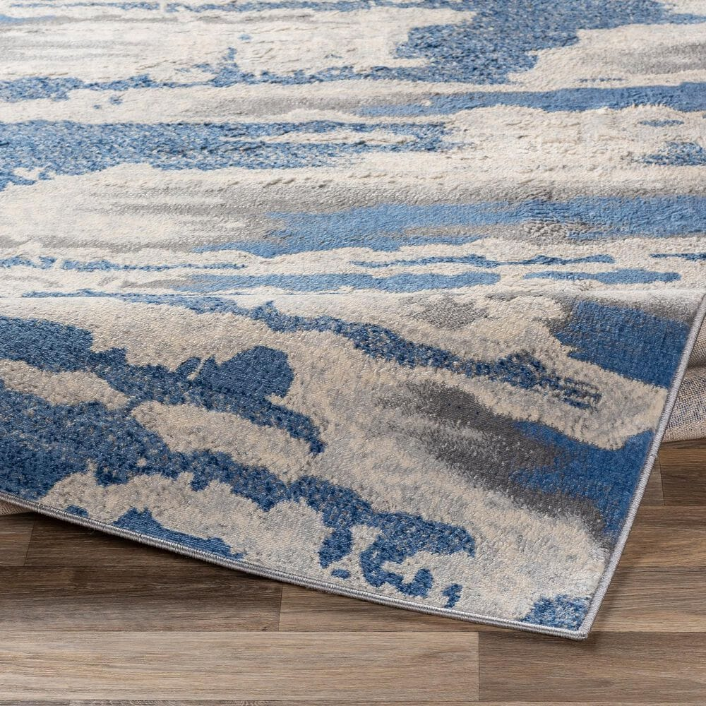 Surya Monaco MOC-2312 2' x 3' Bright Blue and Silver Gray Scatter Rug, , large