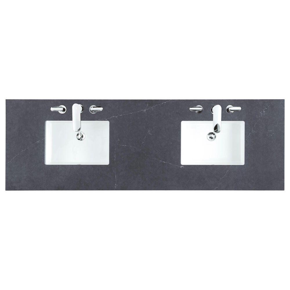 """James Martin 72"""" Double Vanity Top in Charcoal Soapstone, , large"""