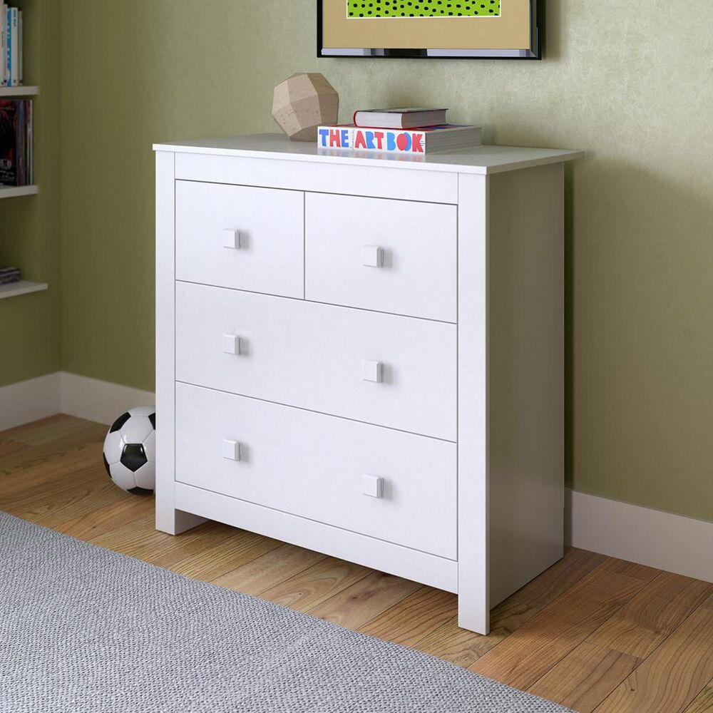 CorLiving Madison 4 Drawer Chest in Snow White, , large