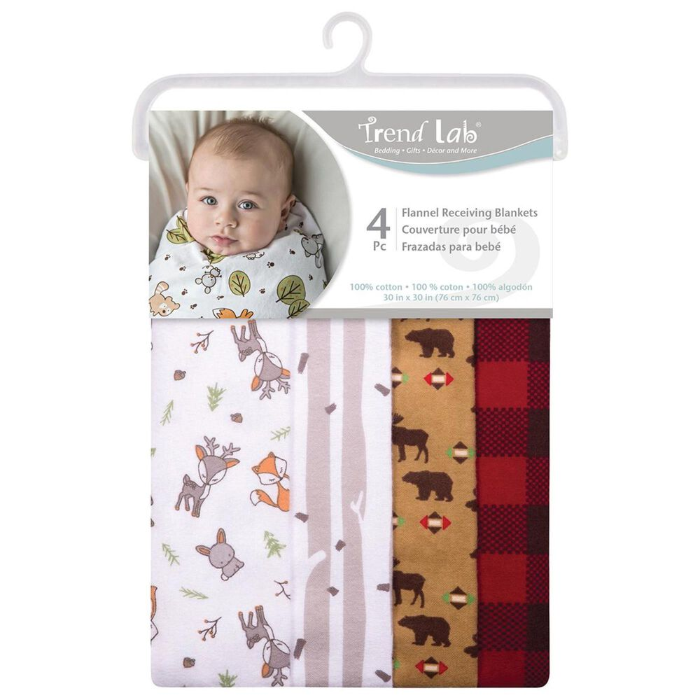 Trend Labs Northwoods 4-Piece Blanket Set in Red, , large