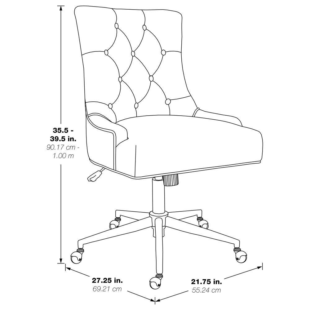 OSP Home Amerlia Office Chair in Fog, , large