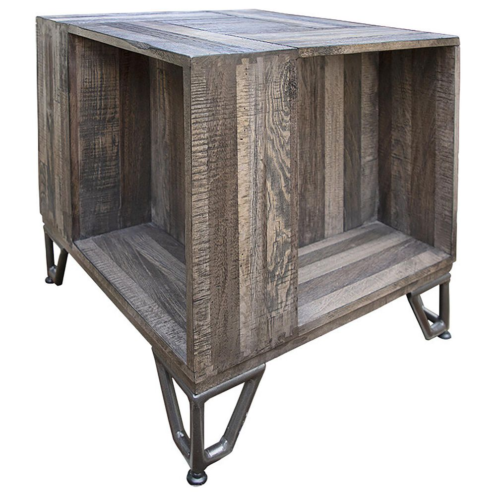 Fallridge Maya End Table in Gray, , large