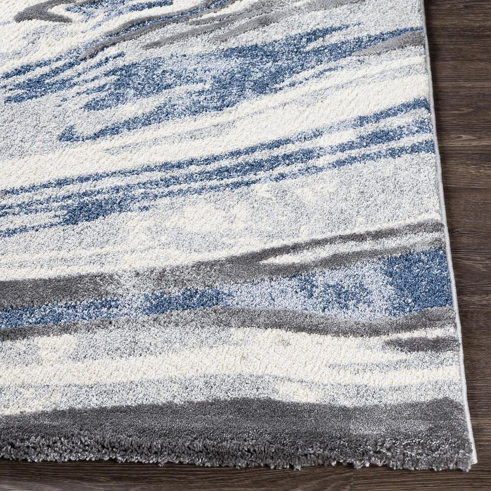 Surya Cielo 9' x 12' Charcoal, Gray, White and Navy Area Rug, , large