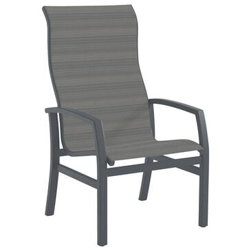 Tropitone Muirlands High Back Dining Chair with Gray Gate Sling in Graphite, , large