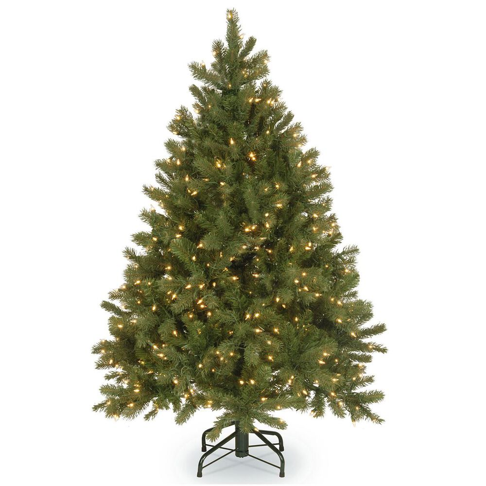 """National Tree 4.5"""" Feel Real Downswept Douglas Fir Hinged Tree with 300 Dual Color LED Lights, , large"""