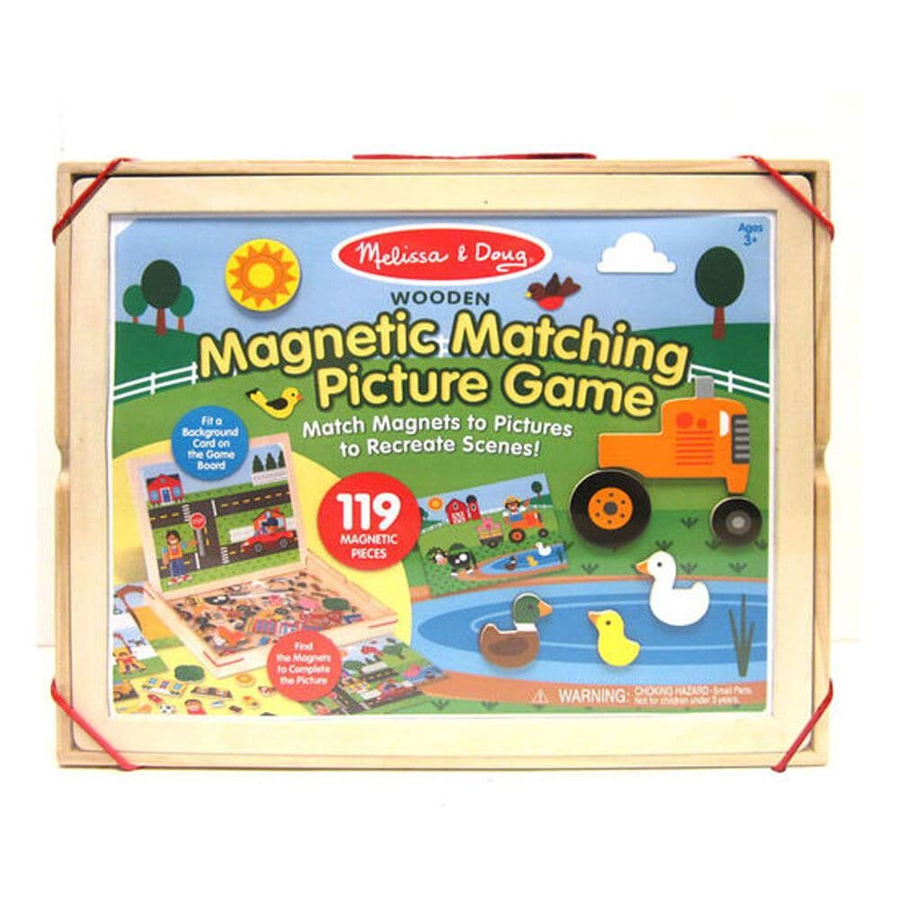 Melissa & Doug Wooden Magnetic Matching Picture Game, , large