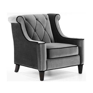 Blue River Barrister Velvet Chair in Gray, , large