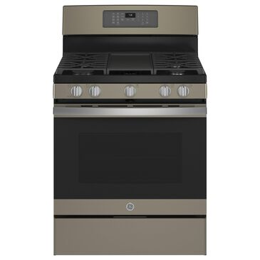 """GE Appliances 30"""" Freestanding Gas Range with Convection in Slate, , large"""