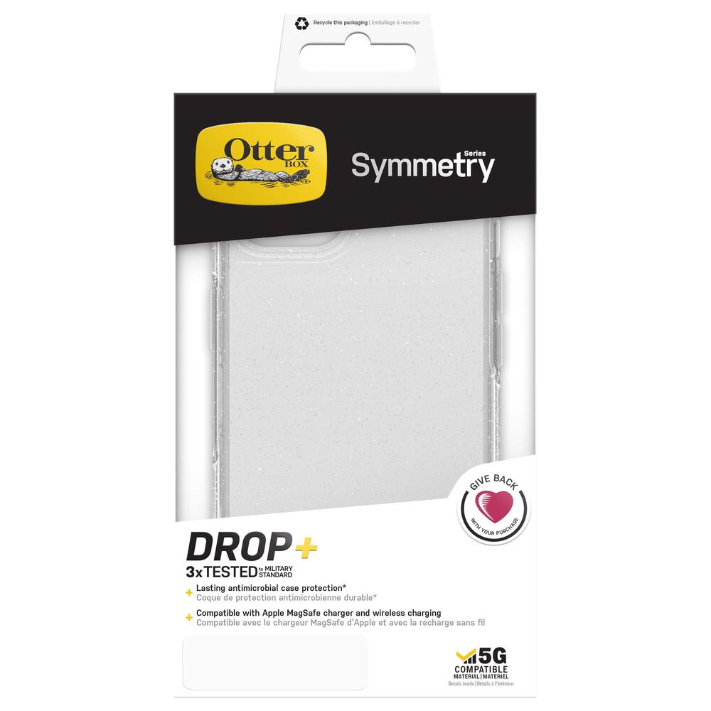 Otterbox Symmetry Stardust 2.0 Case for Apple iPhone 13 in Clear, , large