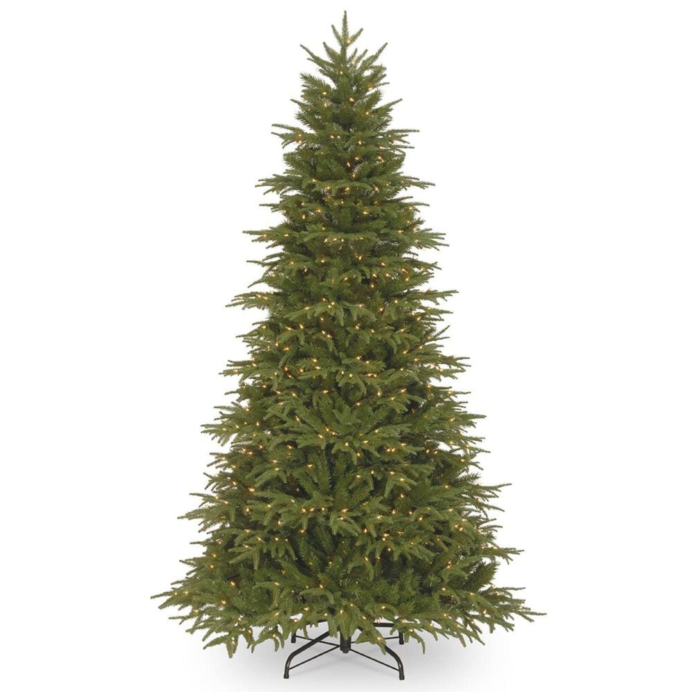 """National Tree 9"""" Feel Real Fir Tree with 1000 White Lights, , large"""