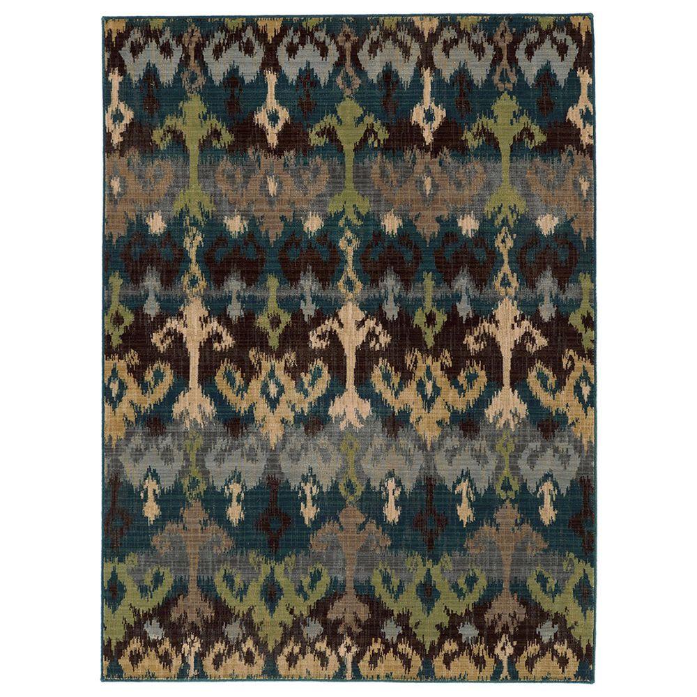 """Oriental Weavers Vintage 8122N 9""""10"""" x 12""""10"""" Blue Area Rug, , large"""