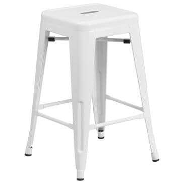 "Flash Furniture 24"" Counter Stool in White, , large"