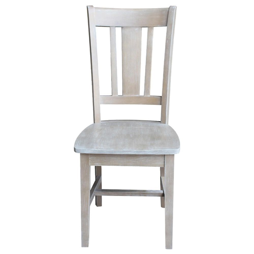 International Concepts San Remo Chair in Washed Gray Taupe, , large