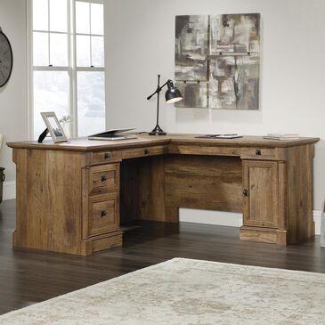 Sauder Palladia L-Shaped Desk in Vintage Oak, , large