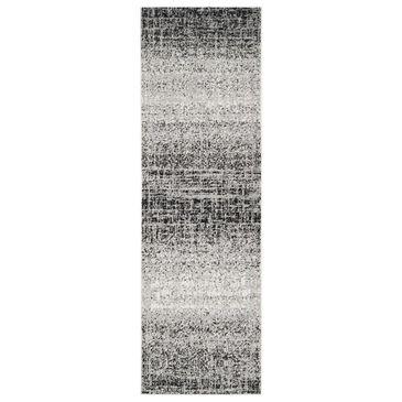 "Safavieh Adirondack ADR116A 2'6"" x 22' Silver and Black Runner, , large"