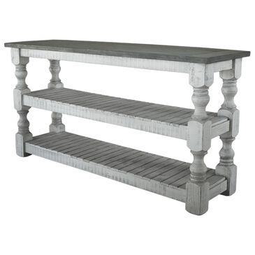 Fallridge Stone Sofa Table in Off White and Gray, , large