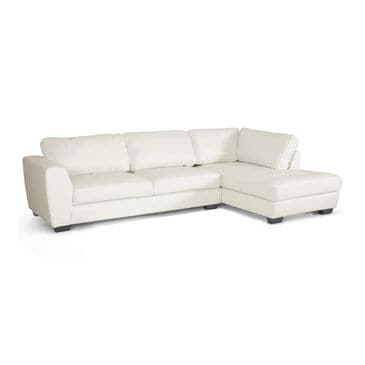 Baxton Studio Contemporary White 2-Piece Sectional with Right Side Facing Chaise, , large