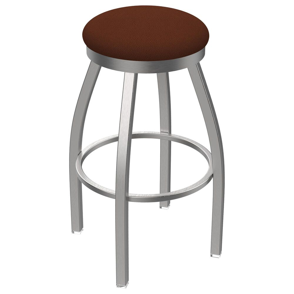 """Holland Bar Stool 802 Misha 25"""" Swivel Counter Stool with Stainless and Rein Adobe Seat, , large"""