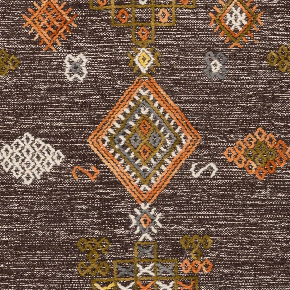 "Surya Zanafi ZNF-2305 5' x 7'6"" Brown, Orange and Red Area Rug, , large"