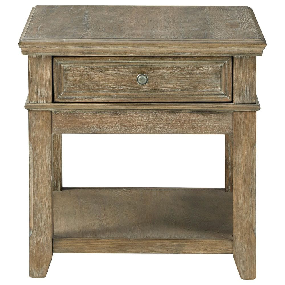 Signature Design by Ashley Janismore Rectangular End Table with USB in Grayish Brown, , large