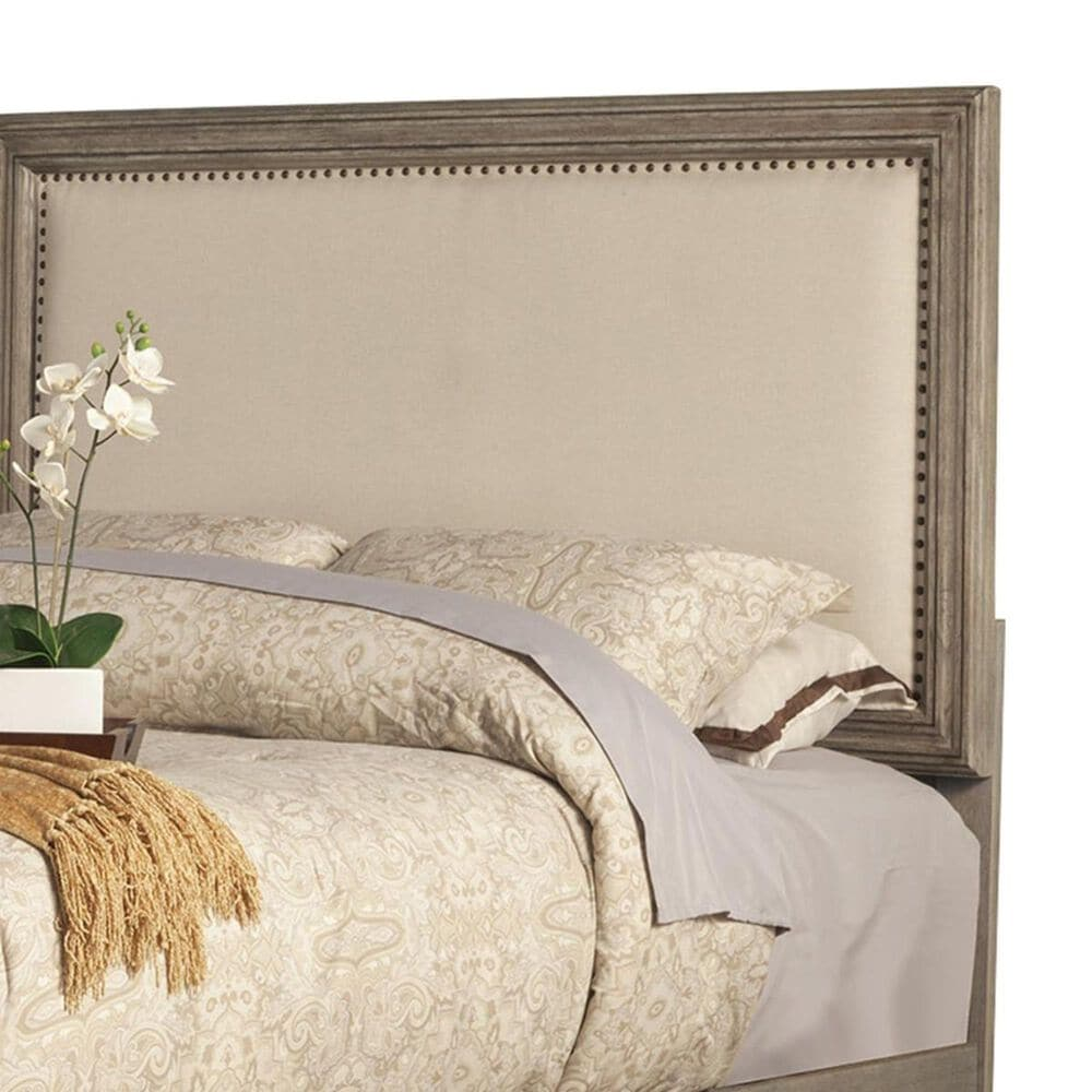 Alpine Furniture Camilla King Panel Upholstered Bed in Antique Grey, , large