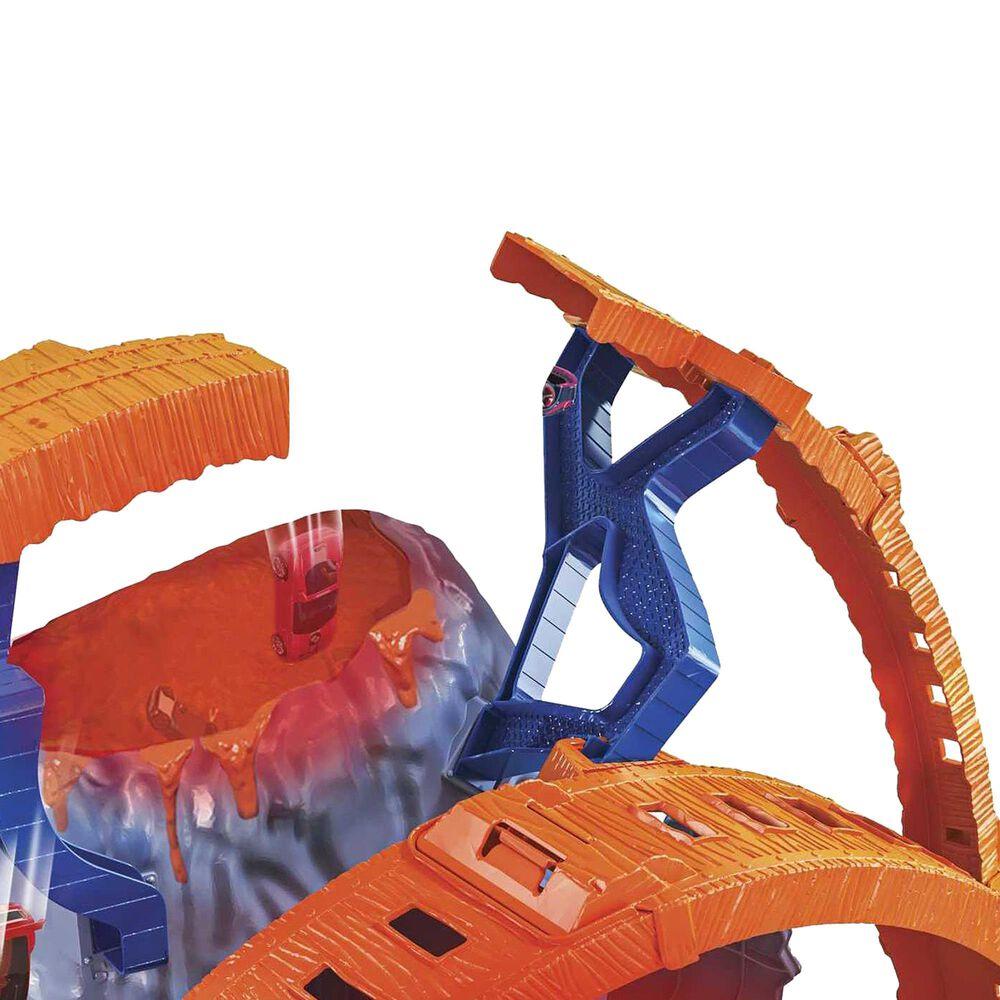 Hot Wheels Monster Trucks T-Rex Volcano Arena, , large