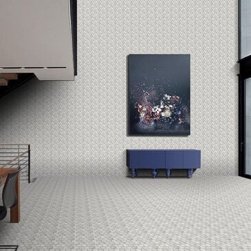 "Emser Echo White 10"" x 12"" Hexagon Glass Mosaic Sheet, , large"