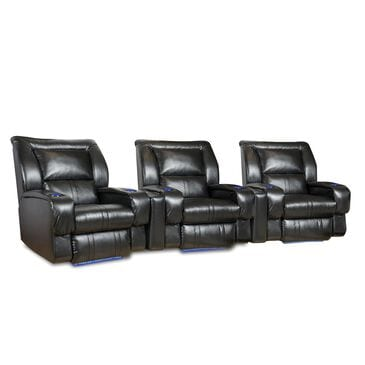 Southern Motion Roxie 3-Seat Home Theater Sectional in Mystro Black, , large