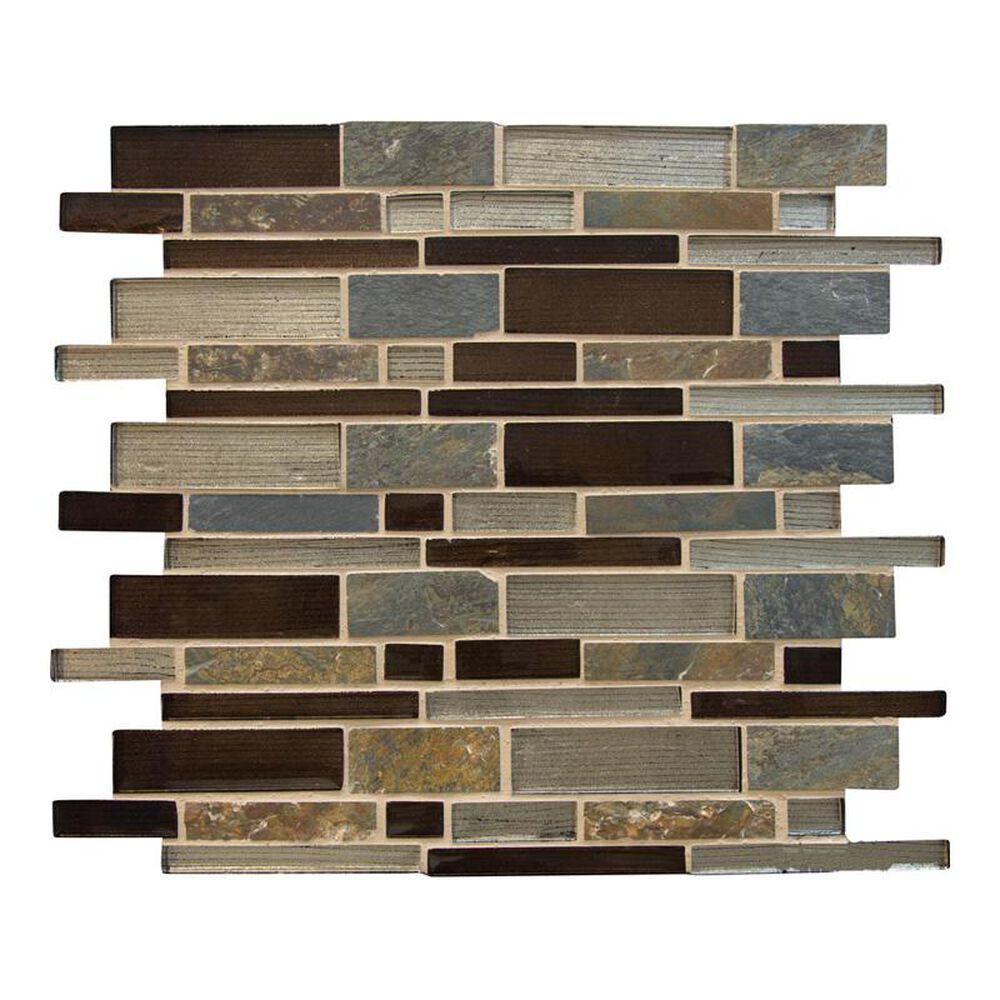 """MS International Urbano Blend 12"""" x 12"""" Glass and Stone Mosaic Sheet, , large"""