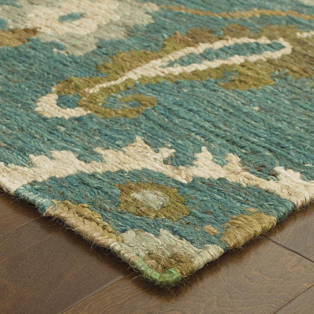 "Oriental Weavers Valencia 57702 3'6"" x 5'6"" Blue Area Rug, , large"