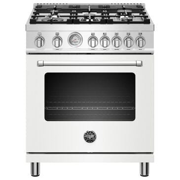 """Bertazzoni 30"""" All Gas Range with 5 Burners in White, , large"""