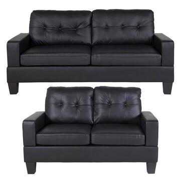 Titanic Furniture Sofa and Loveseat Set in Black, , large