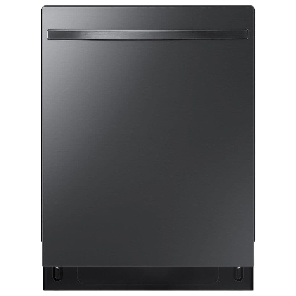 Samsung 4-Piece Kitchen Package with 22 Cu. Ft. Side-by-Side Refrigerator and Electric Range in Black Stainless Steel, , large