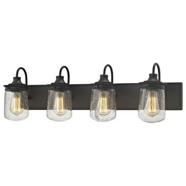 Stein World Hamel 4-Light Vanity In Oil Rubbed Bronze With Clear Seedy Glass, , large